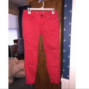 The Limited 678 Denim Ankle Pants - Coral size 4